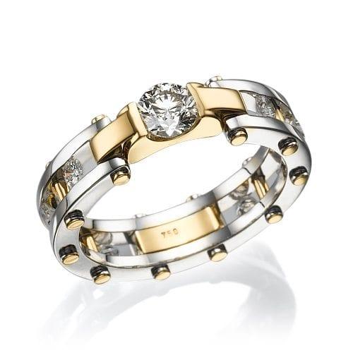 טבעת יהלומים לגבר דגם Dor