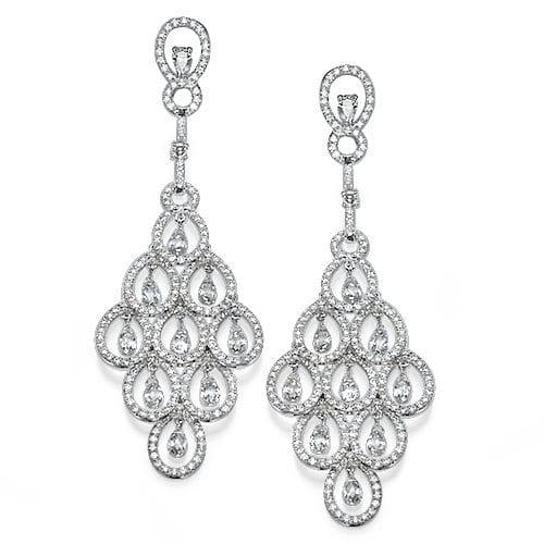 עגילי יהלומים דגם Chandelier