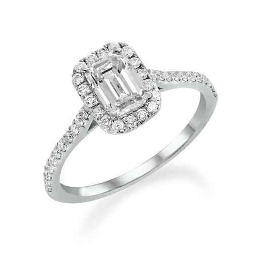 טבעת יהלום בחיתוך אמרלד