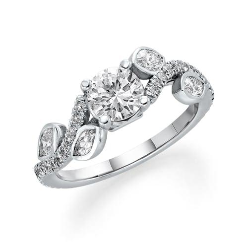 טבעת יהלומים דגם Tiya