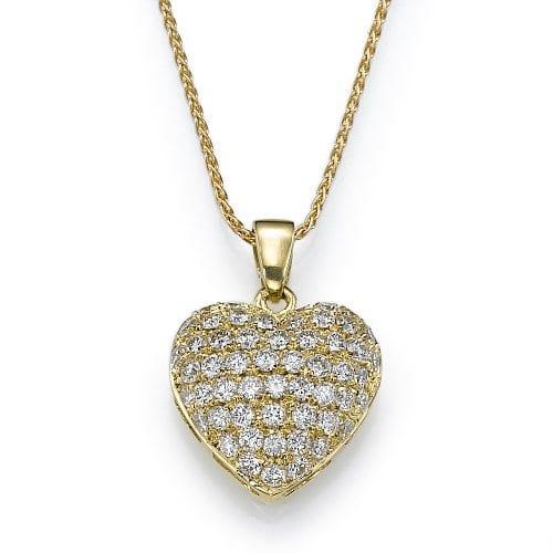 תליון יהלומים בעיצוב לב ב-23% הנחה