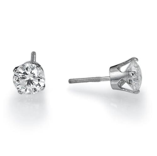 זוג עגילי יהלומים דגם Celine