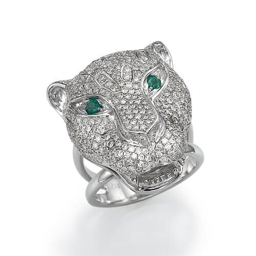 טבעת יהלומים לגבר דגם Jaguar