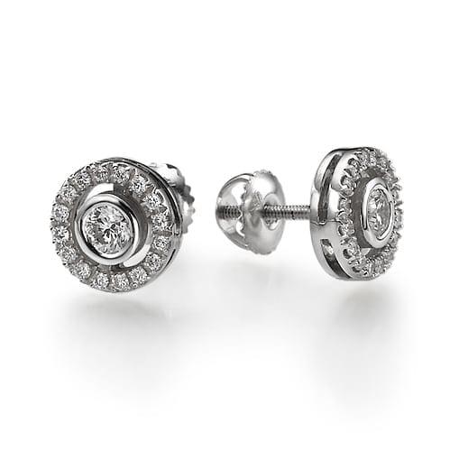 עגילי יהלומים דגם Julia
