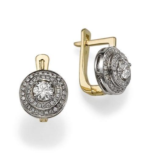 עגילי יהלומים דגם Diana