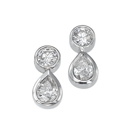 עגילי יהלומים דגם Electra