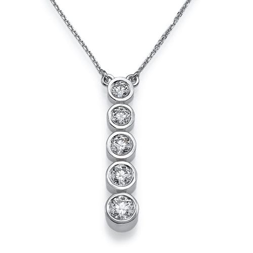 תליון 5 יהלומים