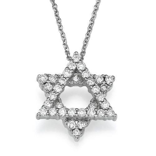 תליון מגן דוד משובץ יהלומים ב-45% הנחה!!!