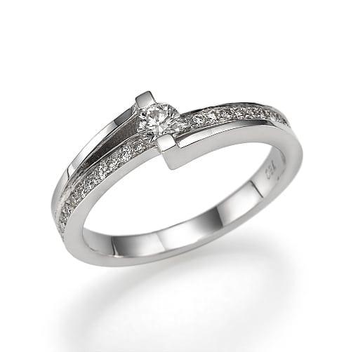 טבעת אירוסין דגם Cecille
