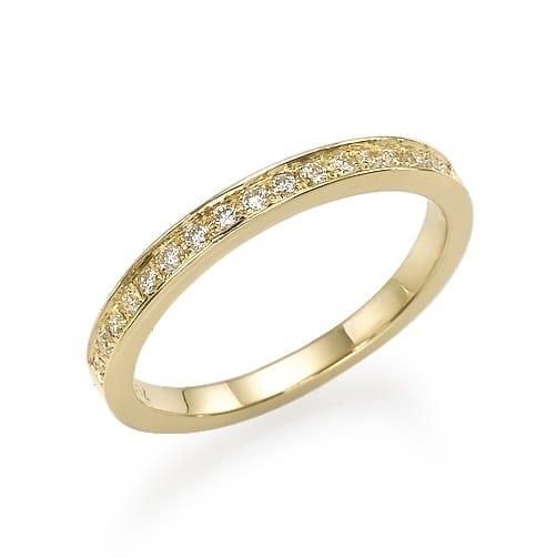 טבעת יהלומים דגם Channel