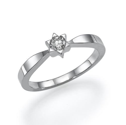 טבעת בעיצוב מגן דוד ב-30% הנחה!!!