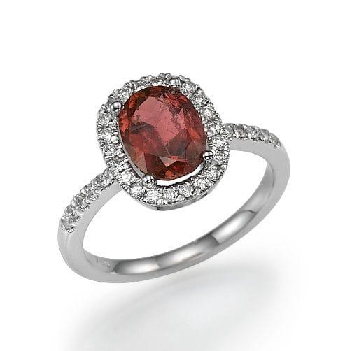 טבעת טורמלין ויהלומים דגם Shane