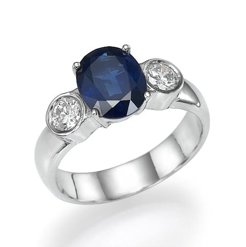 טבעת אבן חן ספיר דגם Maelie