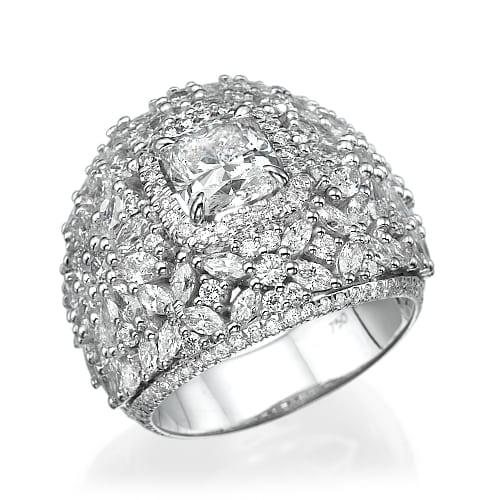 טבעת יהלומים דגם Marquise