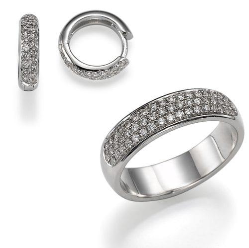 סט טבעת ועגילים Melanie