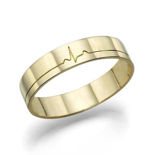 טבעת נישואין עם עיטור דופק