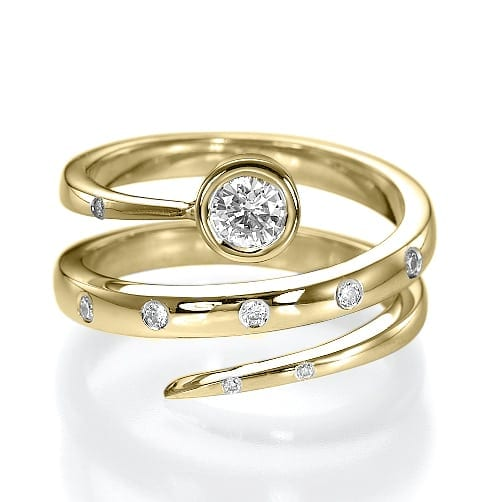 טבעת יהלומים דגם Kora