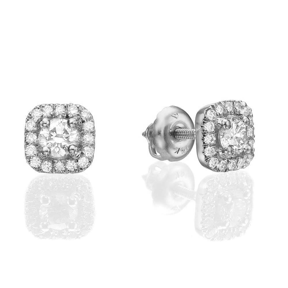 עגילי יהלומים דגם Jenny