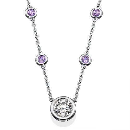 תליון יהלומים דגם Amelie