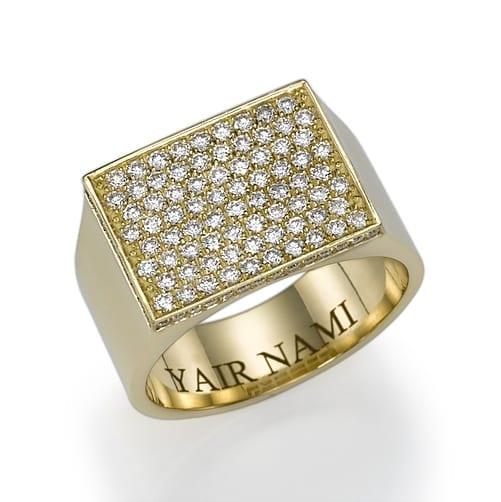 טבעת יהלומים לגבר דגם Yair