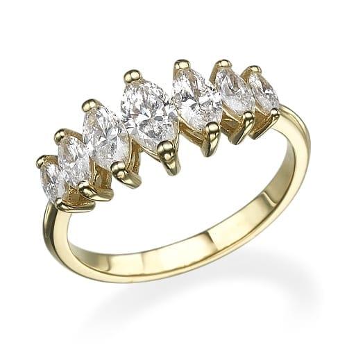 טבעת יהלומים דגם Shaked