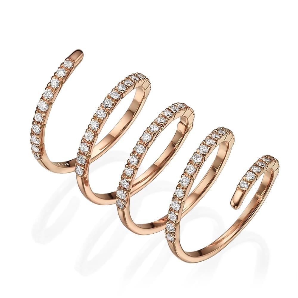 טבעת יהלומים דגם Spiral