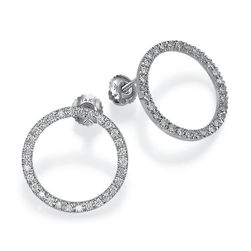 """עגילי יהלומים """"מעגל החיים"""""""
