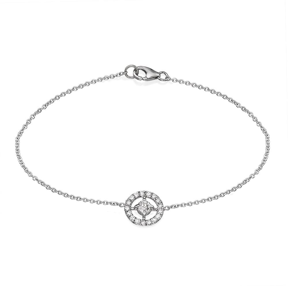 צמיד יהלומים עם עיטור עגול