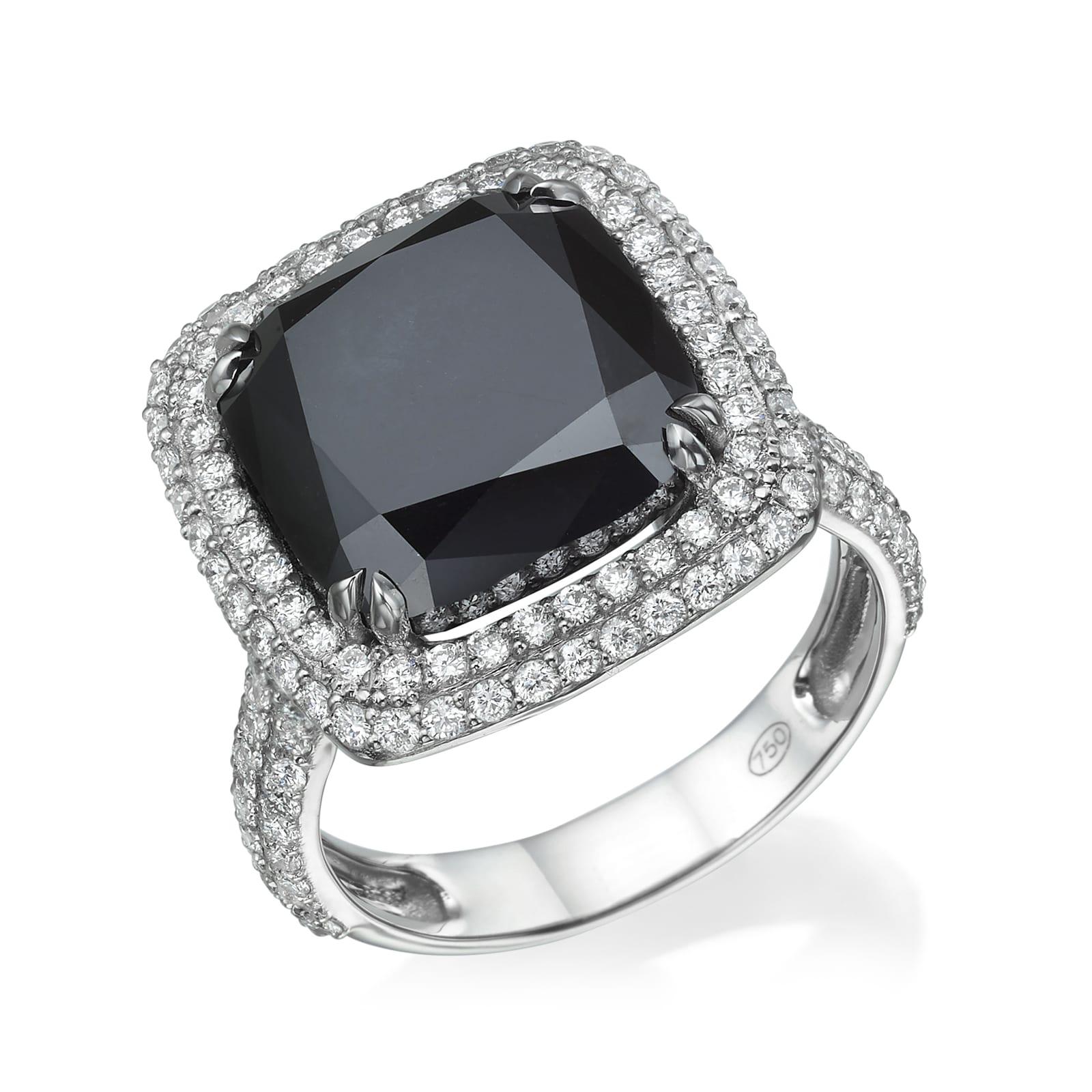 טבעת יהלום שחור דגם Nicole
