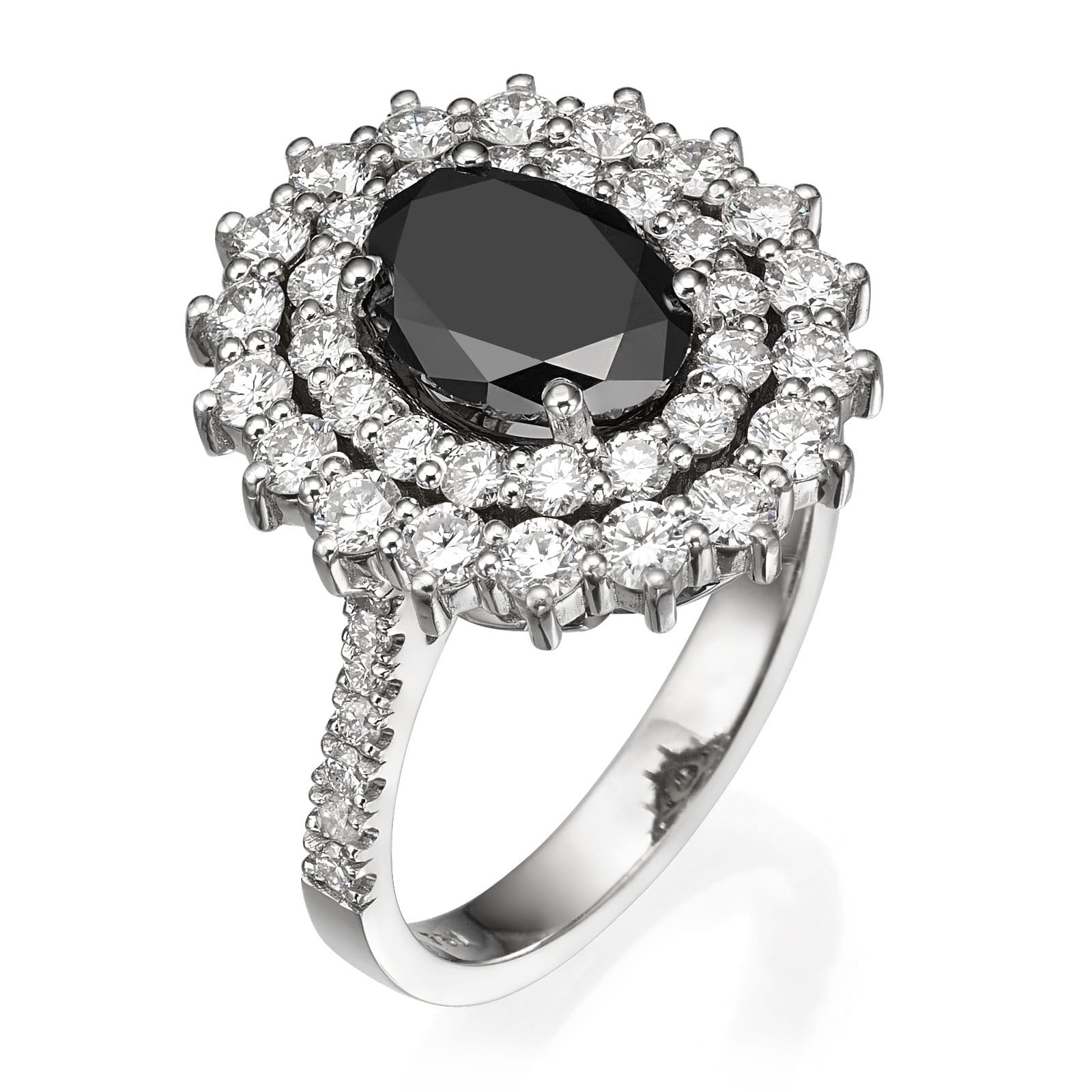 טבעת יהלום שחור דגם Dominique