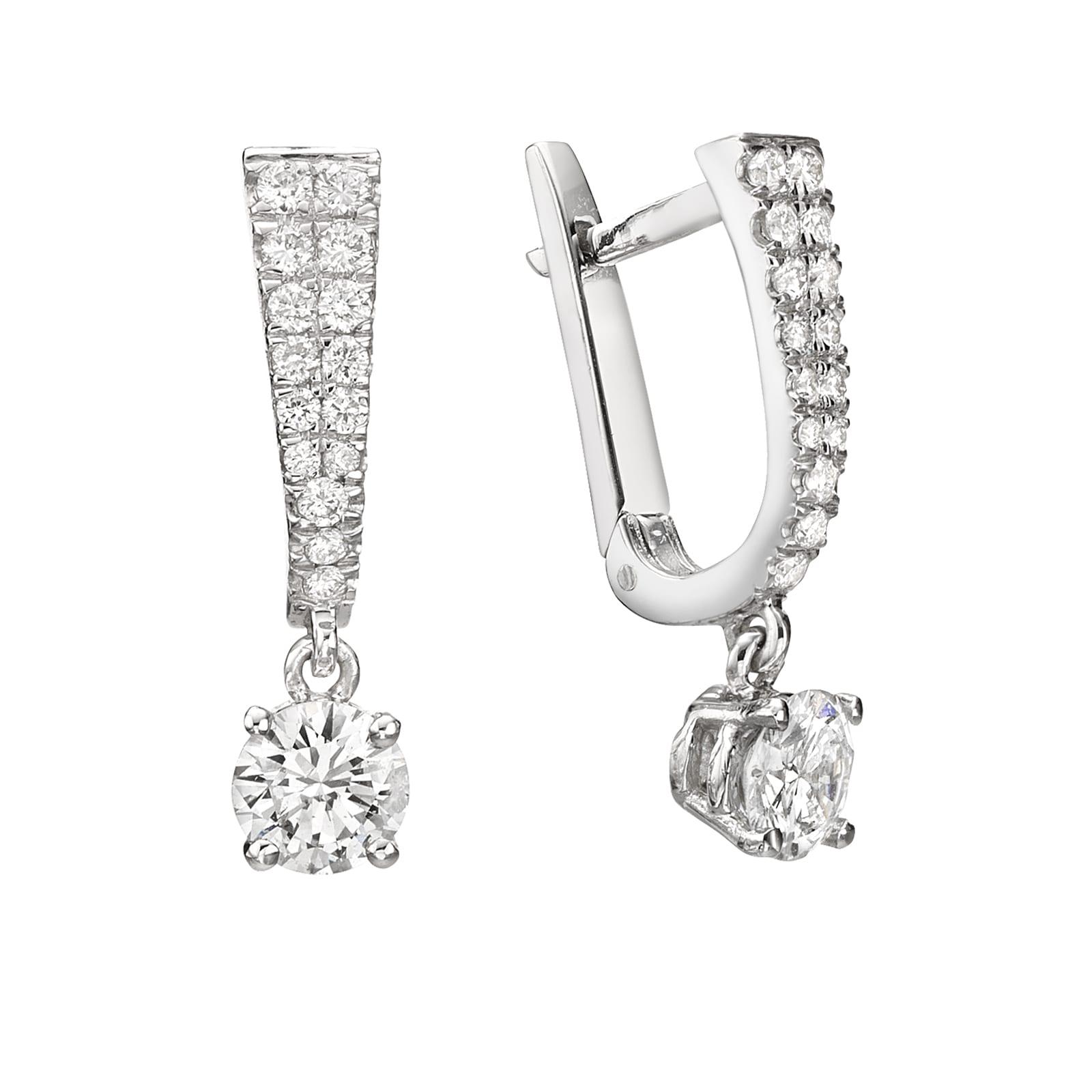 עגילי יהלומים דגם Rotem