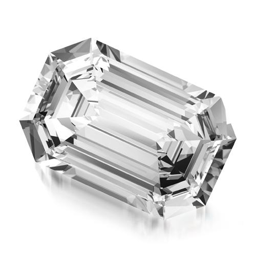 יהלום אמרלד במשקל 0.30 קראט F\VVS2