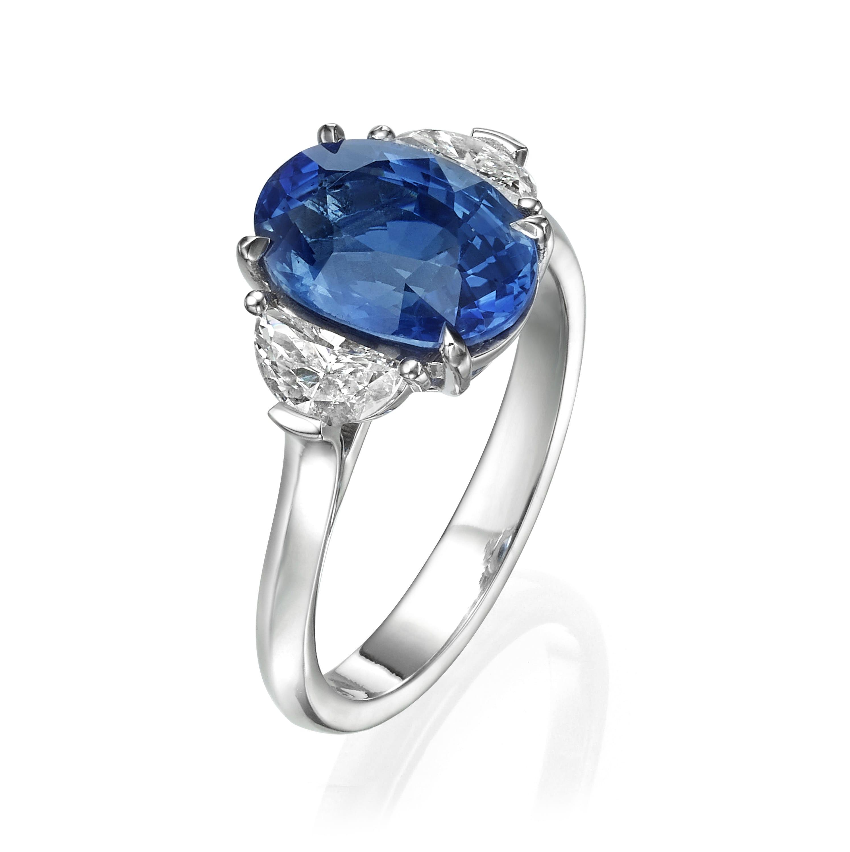 טבעת אבן חן ספיר דגם Nellie