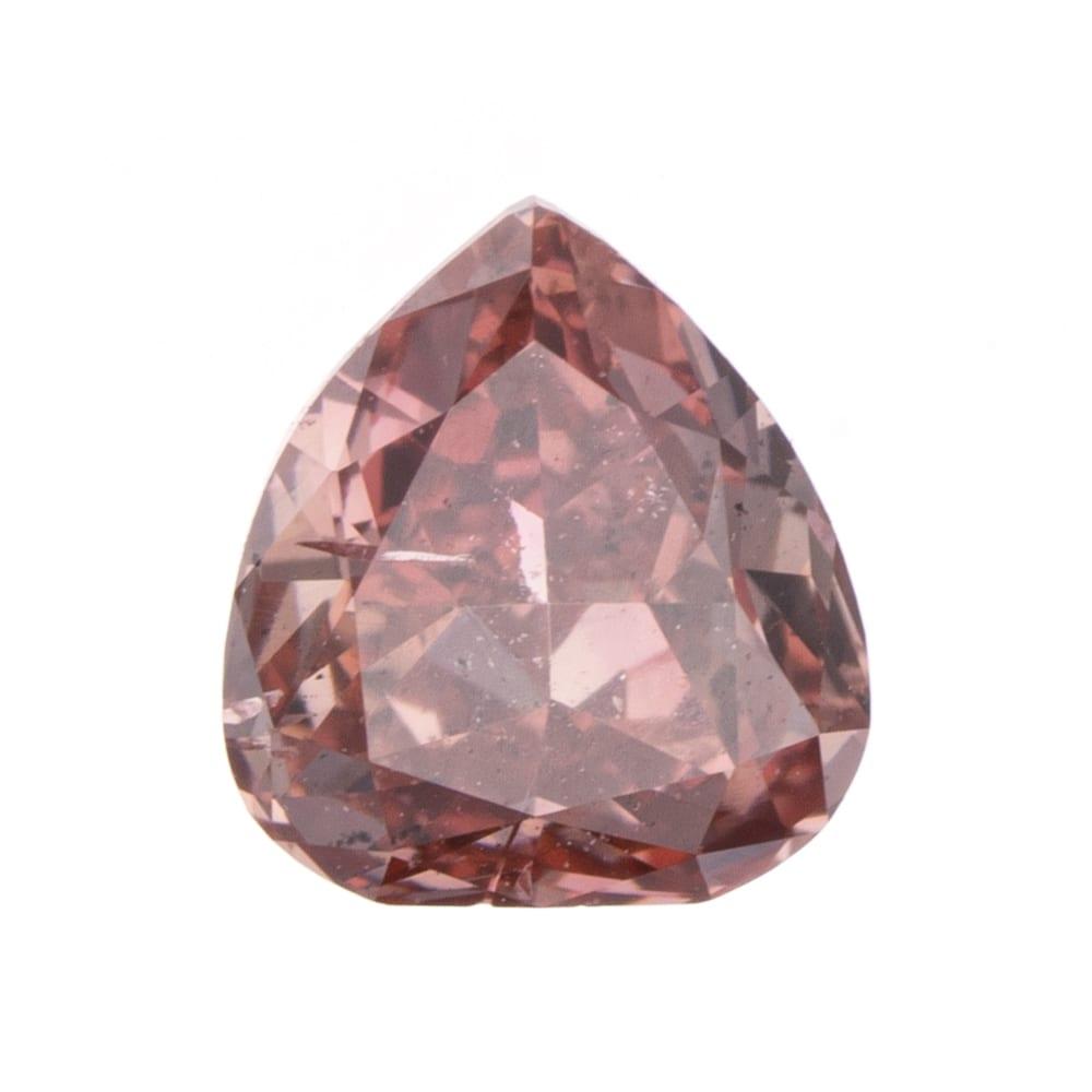 יהלום טבעי בגוון ורוד עמוק 0.18 קראט GIA