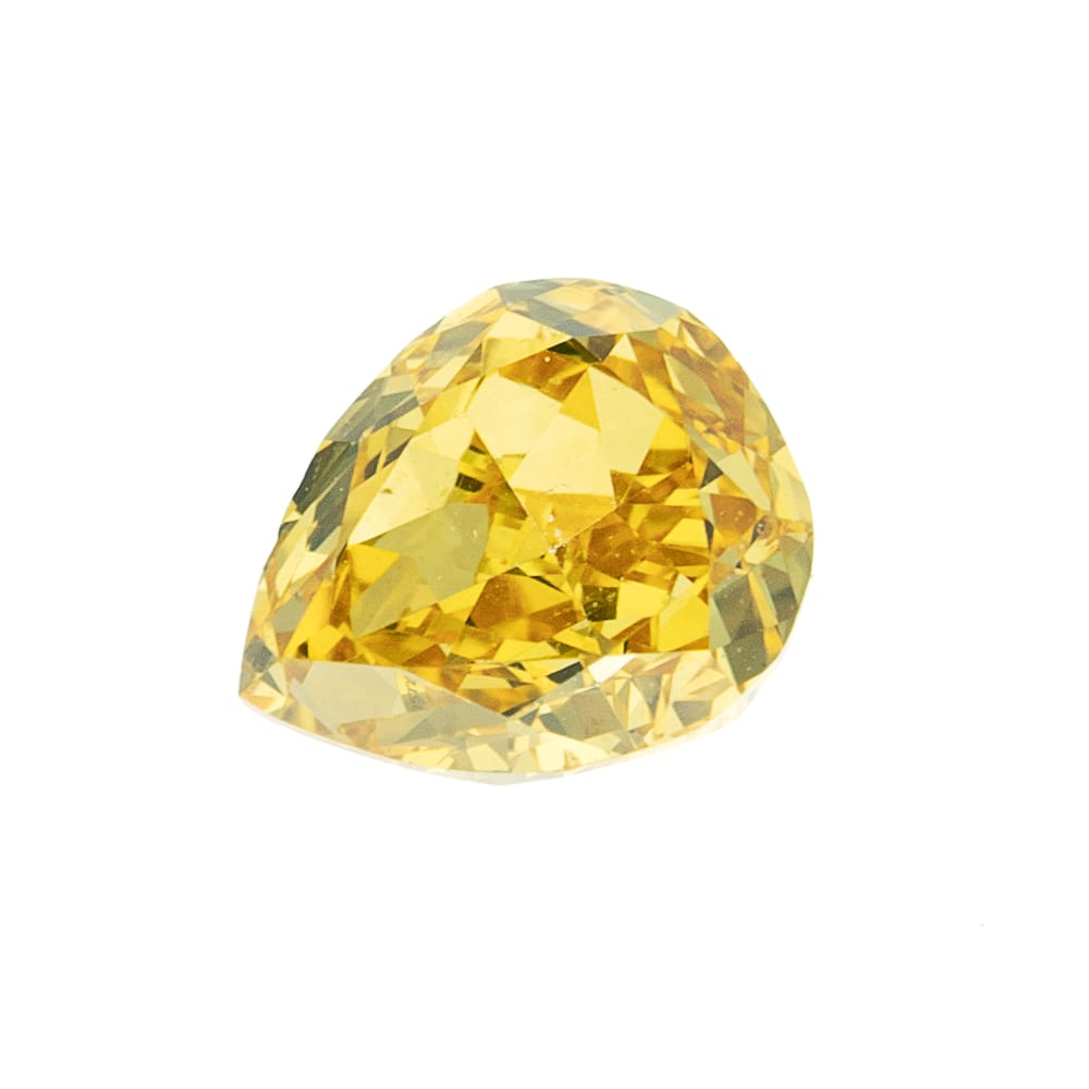 יהלום צהוב טבעי 0.28 קראט GIA