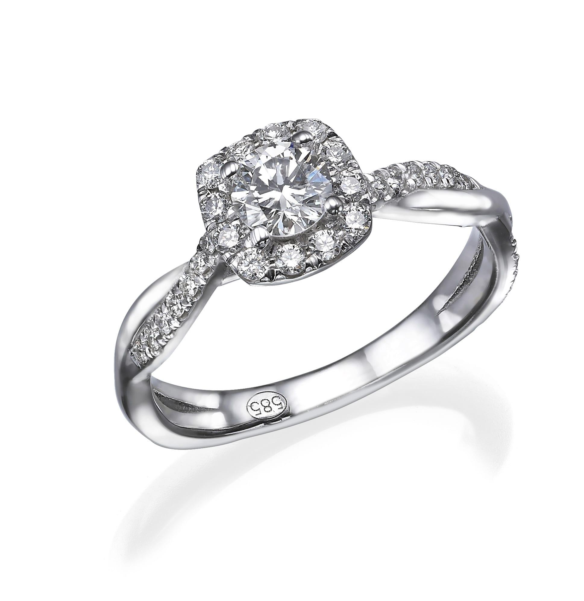 טבעת יהלומים דגם Hailey ב-35% הנחה