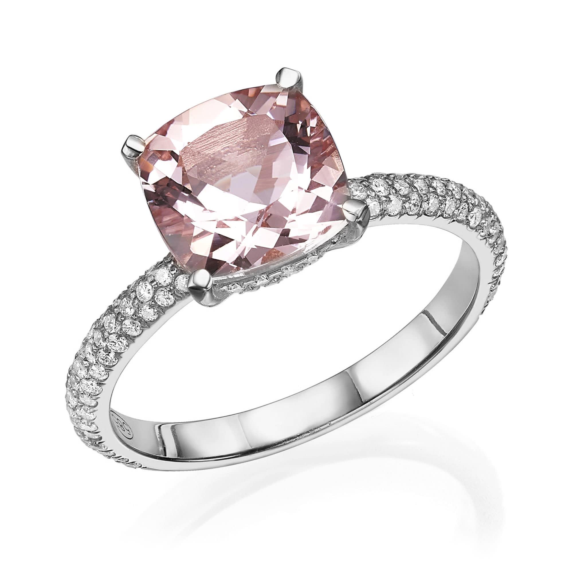 טבעת מורגנייט דגם Mishel
