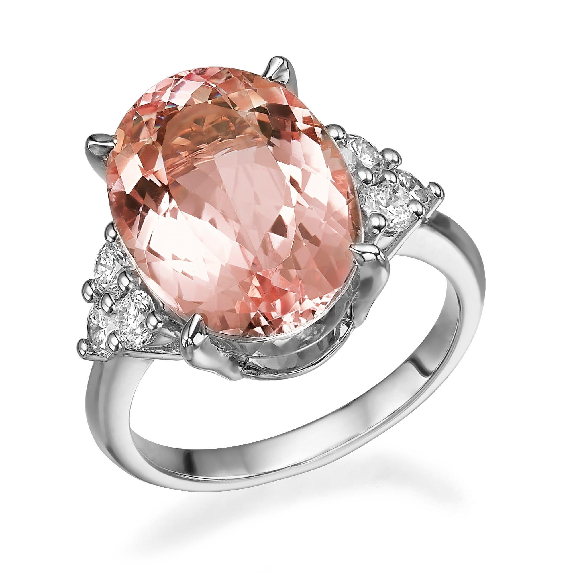 טבעת מורגנייט דגם Kourtney