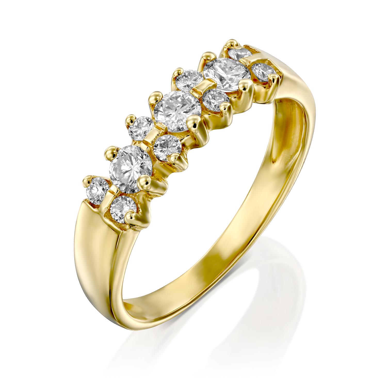 טבעת יהלומים דגם Bar ב-34% הנחה!!!