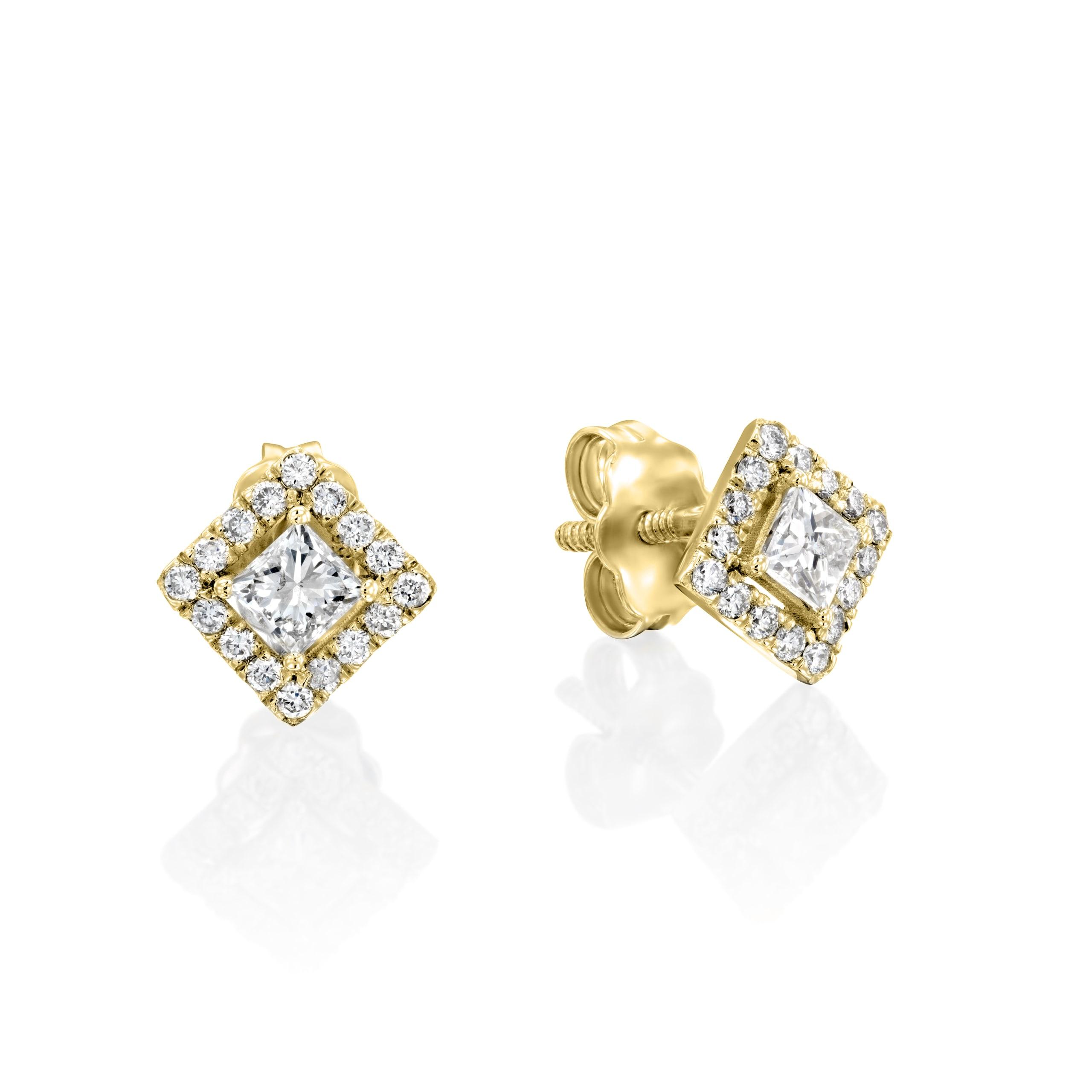 עגילי יהלומים דגם Aimee