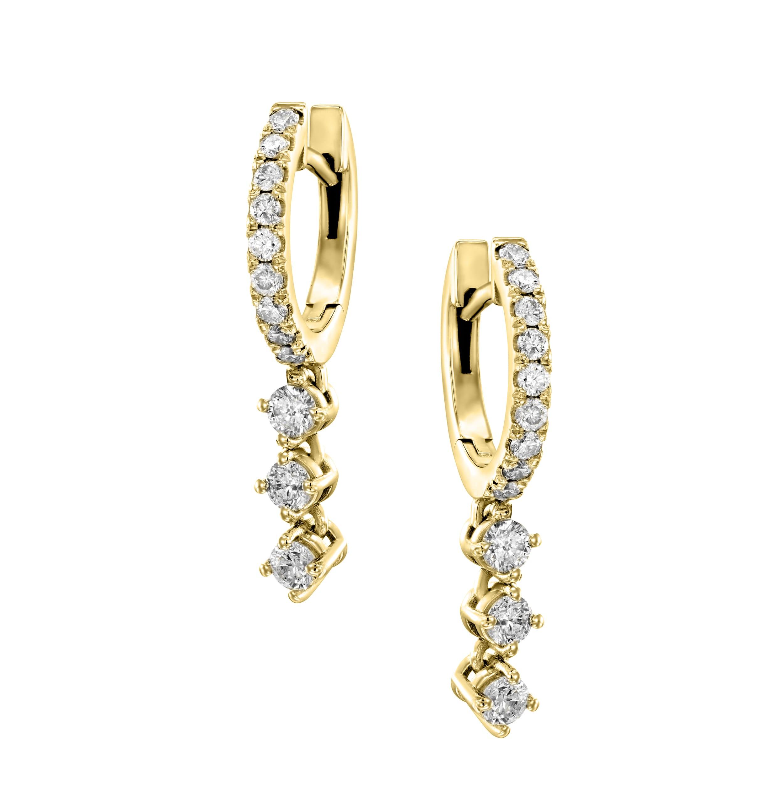 עגילי יהלומים דגם Ariana