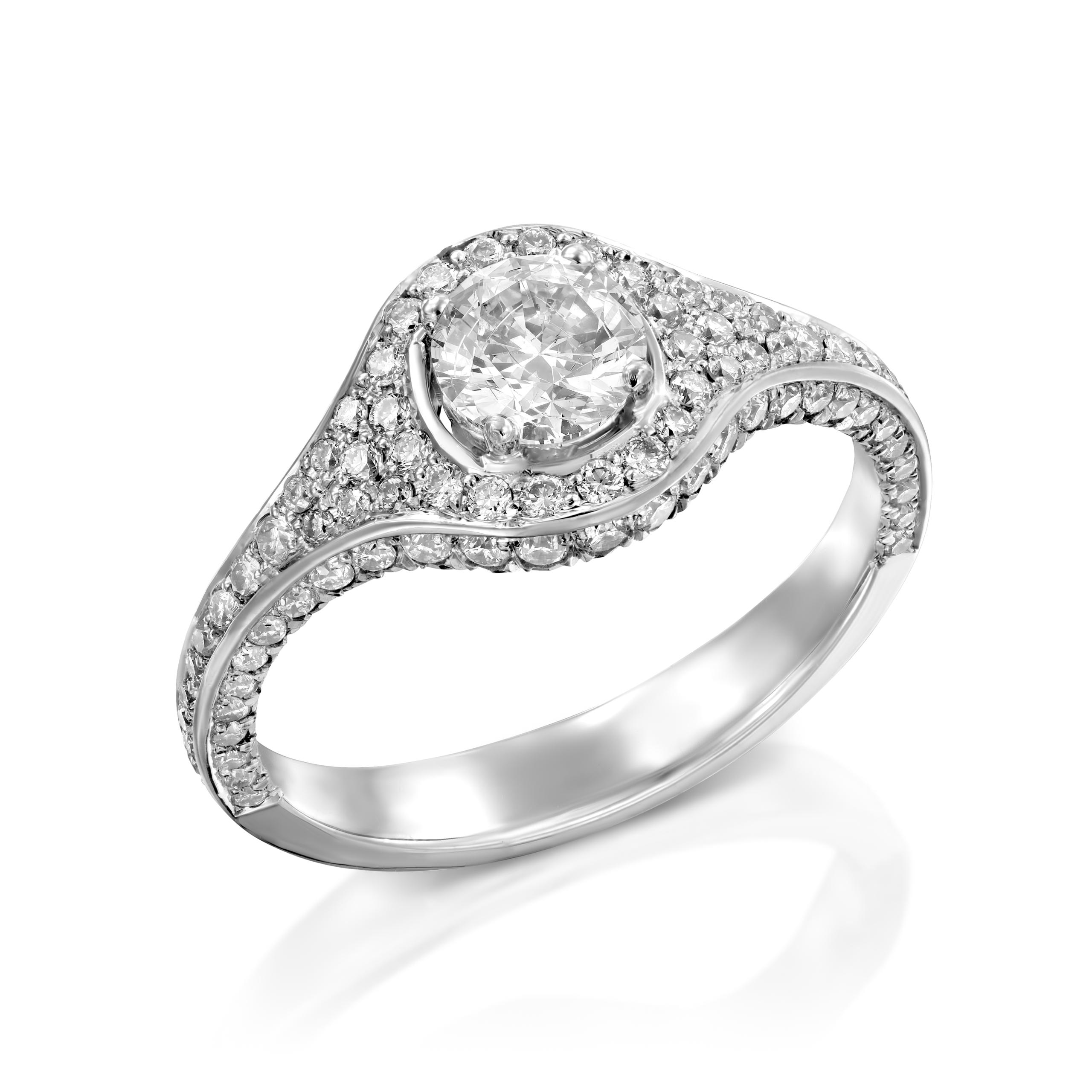 טבעת יהלומים דגם Liv ב-35% הנחה