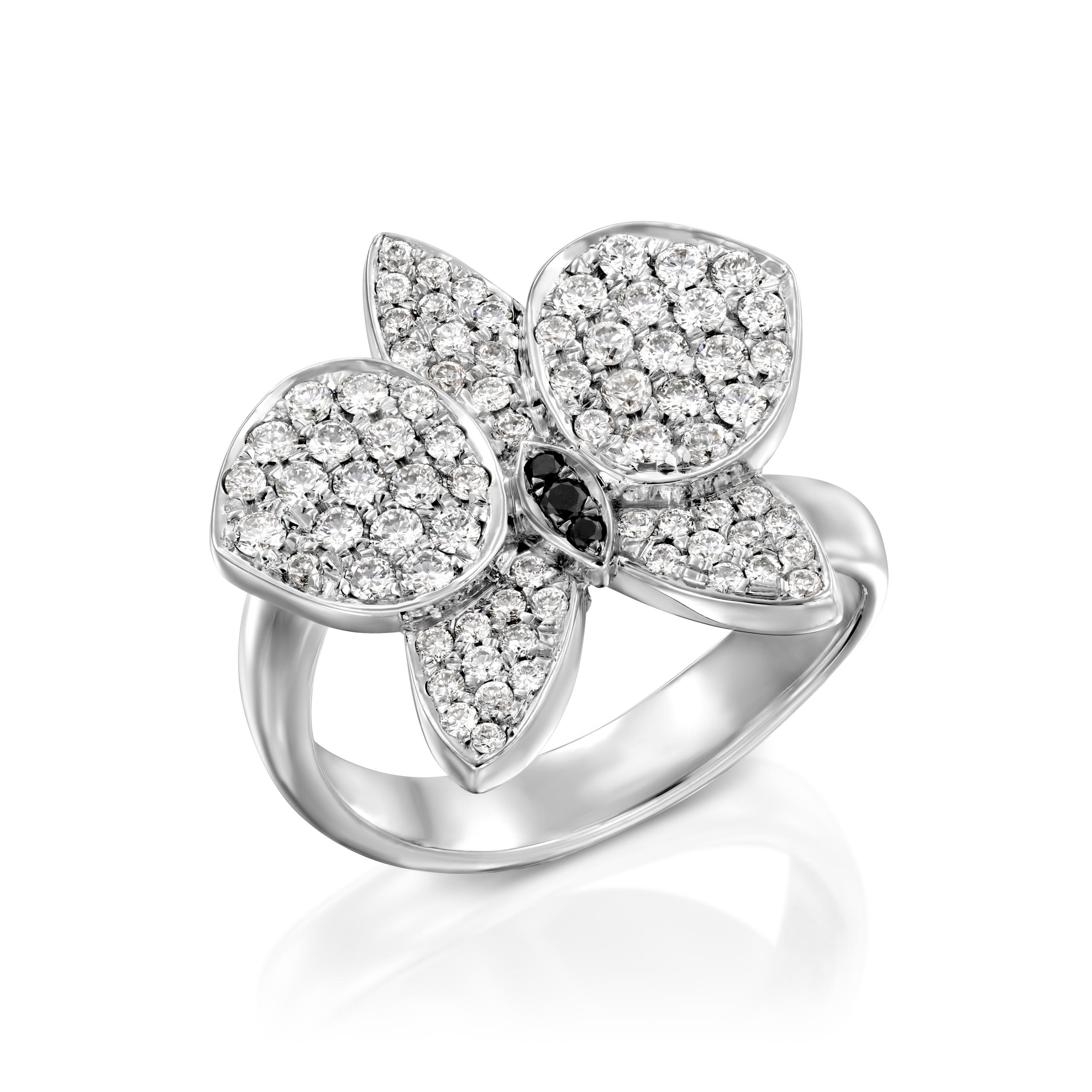 טבעת יהלומים דגם Orchidea ב-40% הנחה