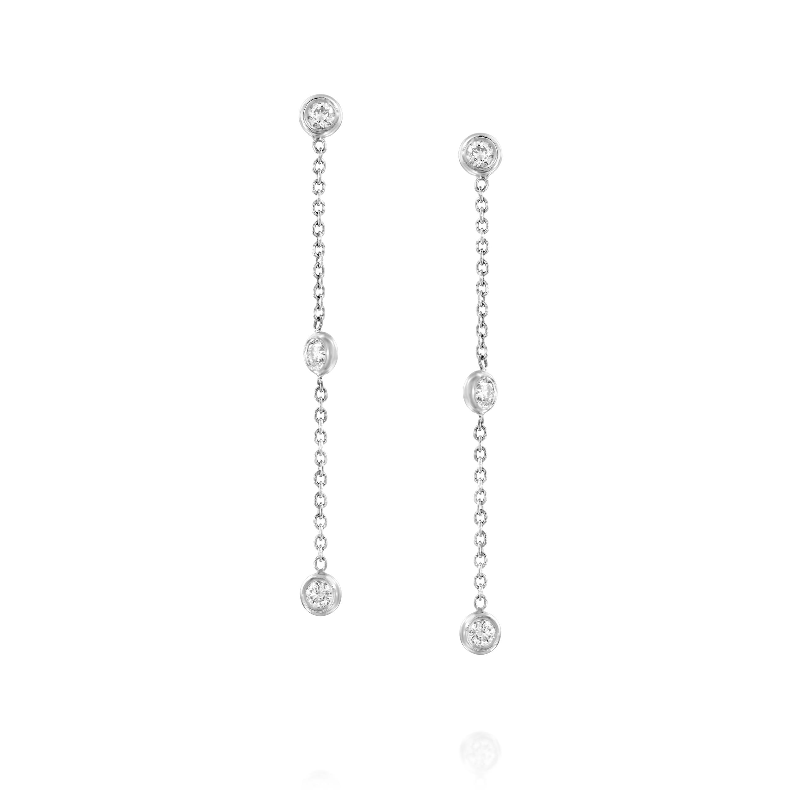 עגילי יהלומים דגם Eva