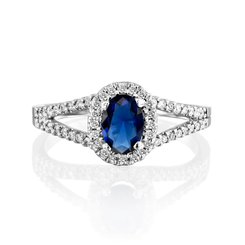 טבעת אבן חן ספיר דגם Gloria