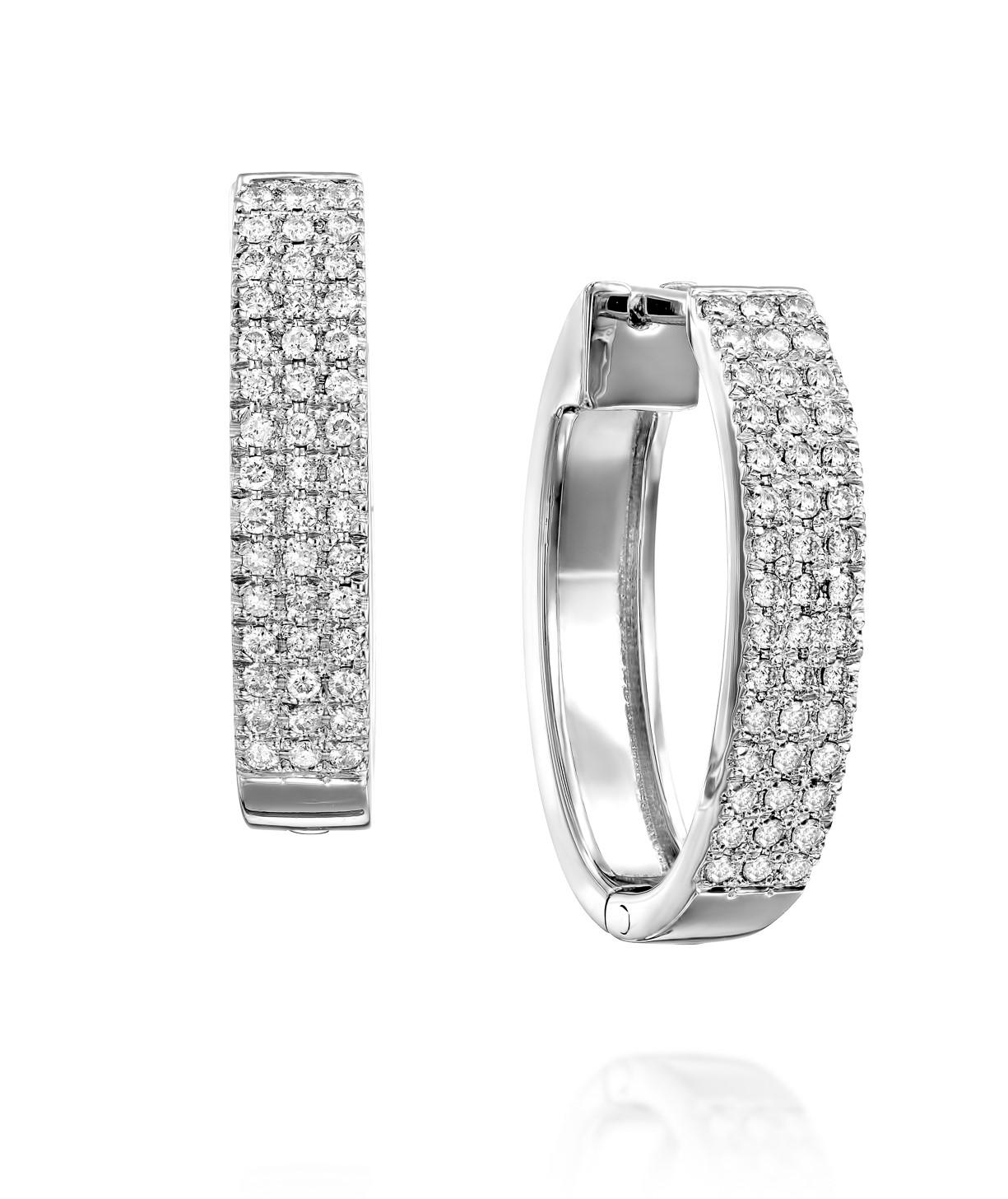 עגילי יהלומים דגם Luana