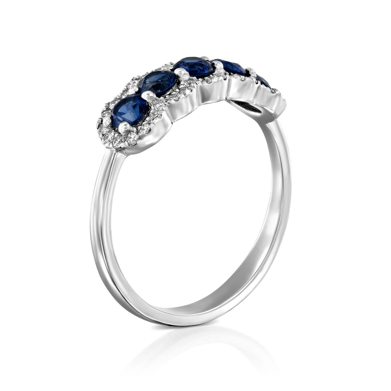טבעת יהלומים ואבני חן ספיר דגם Daniella